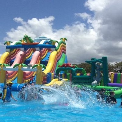 """Cool down the hot Summer days at the Water Wonderland waterpark in Campbelltown! Every day from 10am-5pm until 28 Jan 2019 at Bradbury Oval- definitel"""