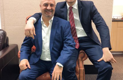 """""""Father and son, Robert and Gianpiero Spitalieri from Wiseberry Bankstown visited Head Office today with their team for a training session with our CEO"""""""