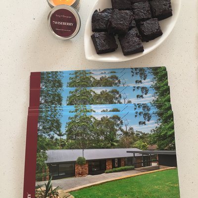 """Today's open at 21 Kristine Place  brought to you homemade chocolate brownies"""