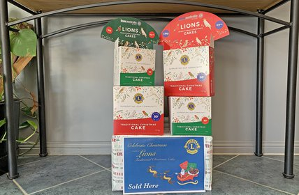 """Don't miss out on a Lions Club Traditional Christmas Cakes. They're now available to purchase in our office!"""