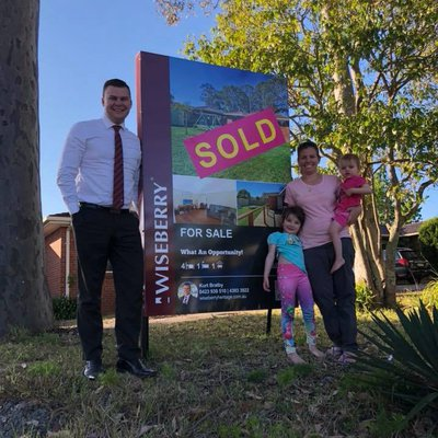 """Bringing dreams to life for some happy first home buyers! Congratulations to Jess, Kaitlen and family."""