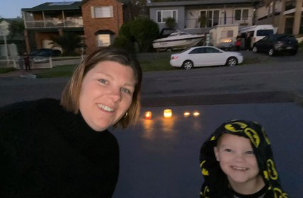 """Some of our team paying tribute from their driveway\u2019s on ANZAC Day.  \u2764\ufe0f\ud83d\udd6f Lest We Forget"""