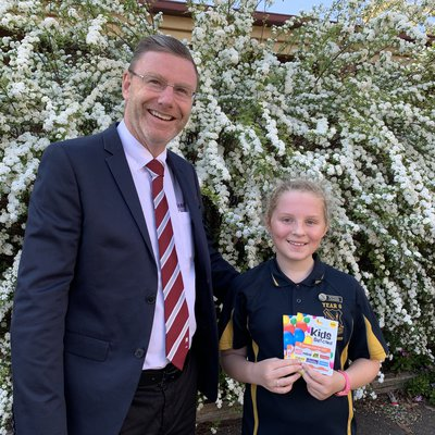 """""""Congratulations to Emma who won our Wiseberry Real Estate Attendance Raffle at Windsor South Public School. We love supporting this great idea every t"""""""