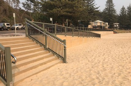 """""""STAGE 1 of the Flynns Beach Master Plan is now complete just in time for summer! It is now wheelchair friendly and features a new vertical seawall, im"""""""