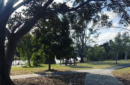 """Robina is voted number 1 for walks by dogs on the Gold Coast. One of the many local parks."""