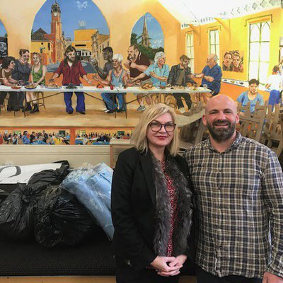 """From our winter appeal the Newtown Mission received over 100 items = 6 Bags = 30kgs. Pastor Sam Stamos was astounded with the donations."""