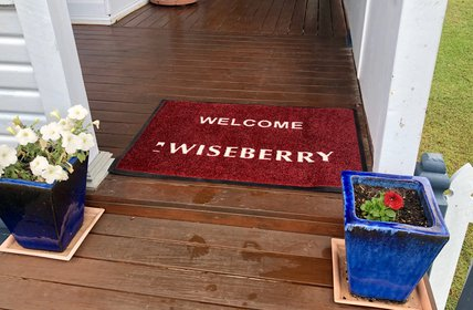"""""""At Wiseberry we\u2019ve got you covered! Right down to a door mat for these rainy days!"""""""