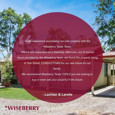 ""\u201c We recommend Wiseberry Taree 110% u201c""400|400|?|f9f40f889c3a632bdac4f2891280ec67|False|UNLIKELY|0.3335949182510376