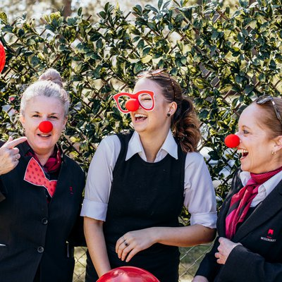 """Getting silly in support of Red Nose Day! \ud83d\udd34<br \/>Saying goodbye to a child should not be something that any family has to endure, and this year we """