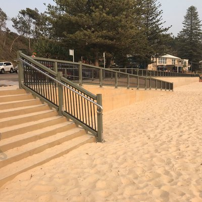 """STAGE 1 of the Flynns Beach Master Plan is now complete just in time for summer! It is now wheelchair friendly and features a new vertical seawall, im"""