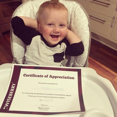 """Not long left of our winter appeal! Help us help Toukley Neighbourhood Centre... like this little guy and his mum have done by donating blankets, clot"""