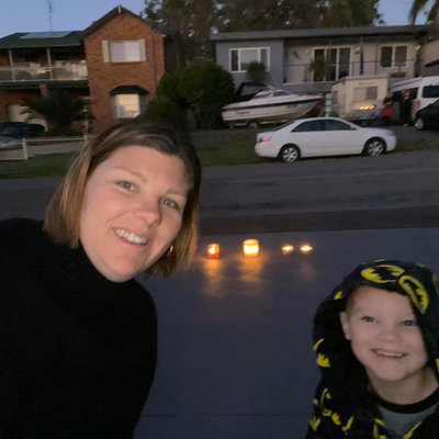 """""""Some of our team paying tribute from their driveway\u2019s on ANZAC Day.  \u2764\ufe0f\ud83d\udd6f Lest We Forget"""""""