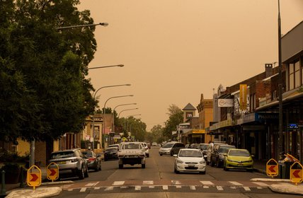 """Dust storm clouds move across the Hawkesbury! Photo credit: Geoff Jones"""
