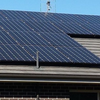 """Solar Power - with 25 x LG panels making up a 8kw system it is refreshing to know that our last bill was in credit - nothing to pay!"""