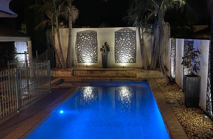 """Pool by night"""