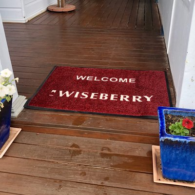 """At Wiseberry we\u2019ve got you covered! Right down to a door mat for these rainy days!"""