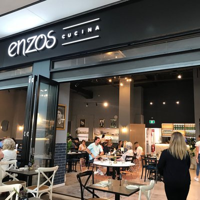 """""""Enzo\u2019s Cucina has officially opened at Macarthur Square! Amazing food in a family friendly environment - we love a new restaurant that caters for ev"""""""