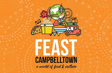"""Experience an array of flavours from around the world at FEAST Campbelltown, to be held at Redfern Park in Minto on the 22nd September from 2.00pm - 9"""