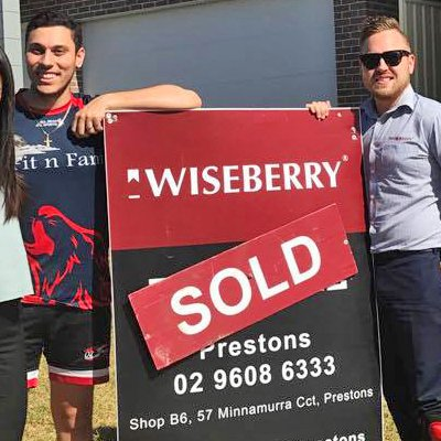 Purchasing their first family home